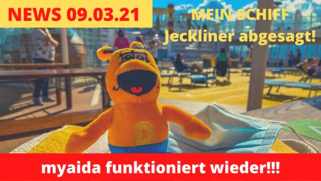 myaida.de geht wieder! | Jeckliner abgesagt! | Dialyse Kreuzfahrten: Kreuzfahrt News 09.03.2020
