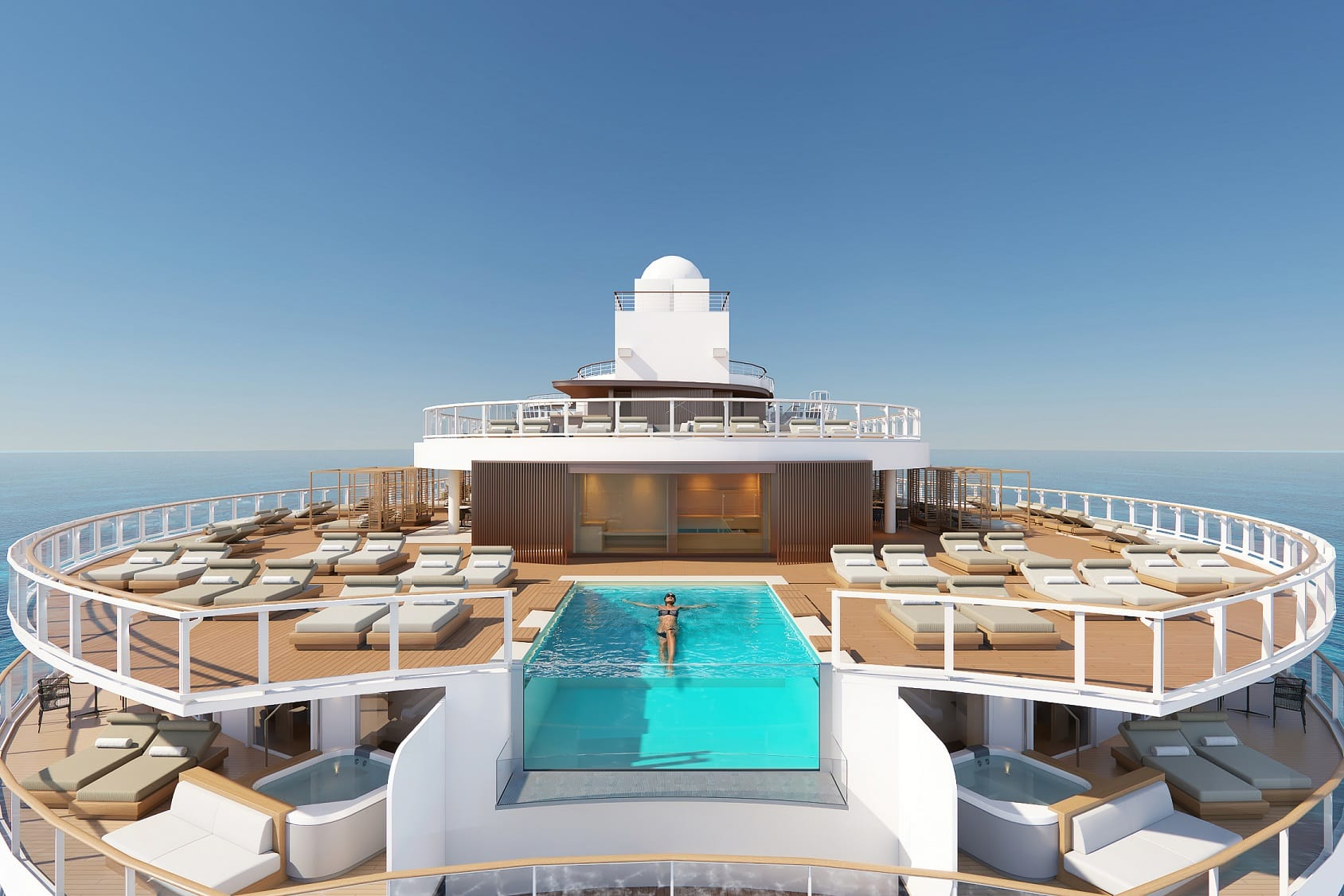 The Heaven Sundeck Norwegian Prima © Norwegian Cruise Line