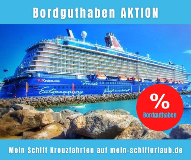 Mein Schiff: bis zu 6% Bordguthaben auf Orient- und Karibikkreuzfahrten