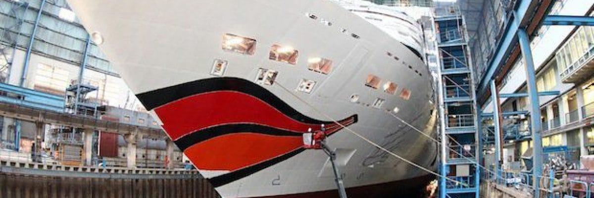 AIDAmar bekommt Kussmund / © AIDA Cruises