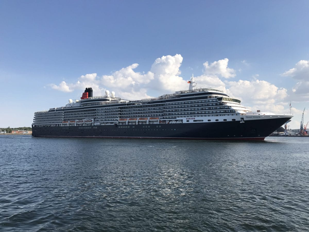 Queen Victoria : Erstanlauf in Kiel