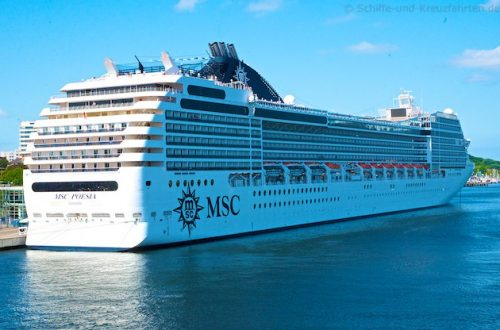 MSC Poesia in Kiel am Ostseekai