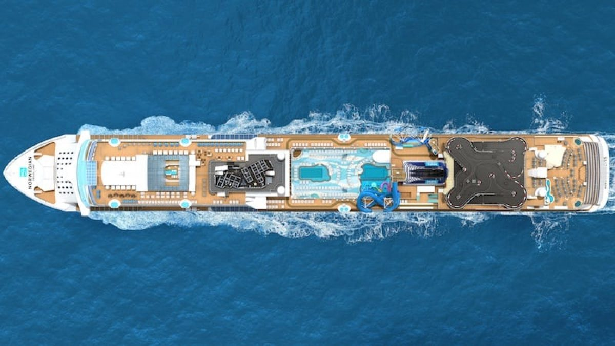 Norwegian Bliss aus der Luft / © Norwegian Cruise Line