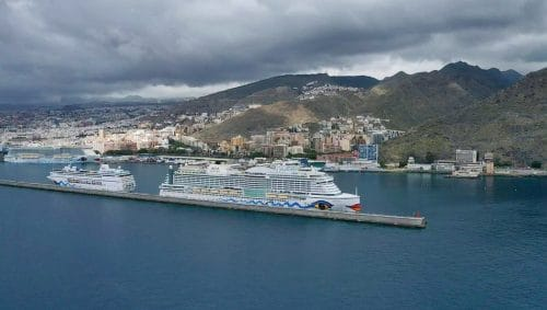 AIDAperla, AIDAmira &AIDAnova im Hafen von Teneriffa | Foto © Puertos de Tenerife