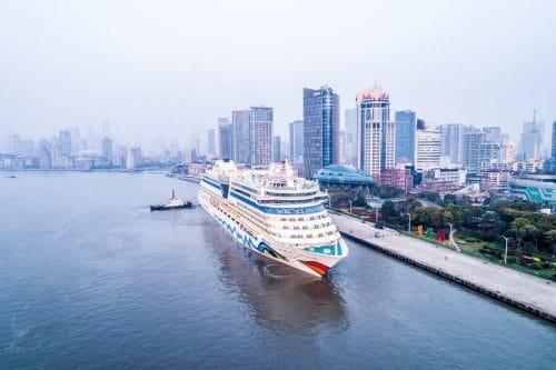 Erstanlauf in Shanghai für AIDAbella / © AIDA Cruises