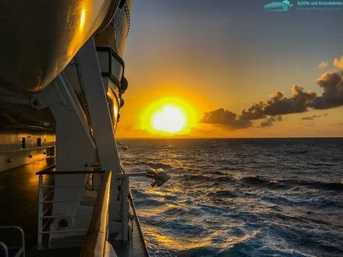 Sonnenaufgang kurz vor Curaçao