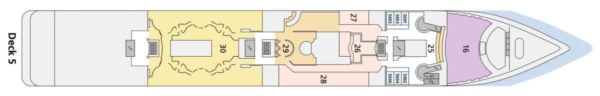 AIDAmira Deck 5   © AIDA Cruises