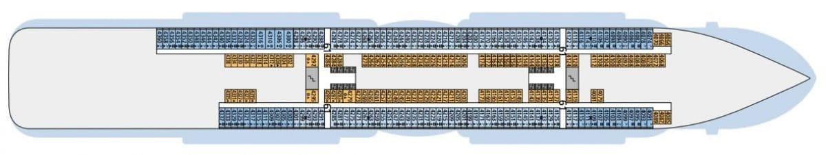 AIDAnova Deck 4 © AIDA Cruises