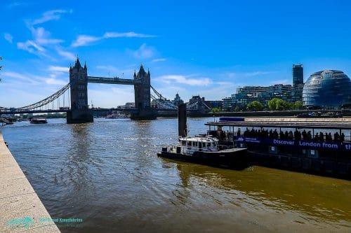 Die Tower Bridge in London - Erreichbar von Dover