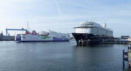 Die Mein Schiff 6 machte erstmals in Kiel fest / © Port of Kiel