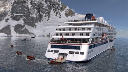Hanseatic inspiration - Kiellegung bei Vard / © Hapag Lloyd Cruises