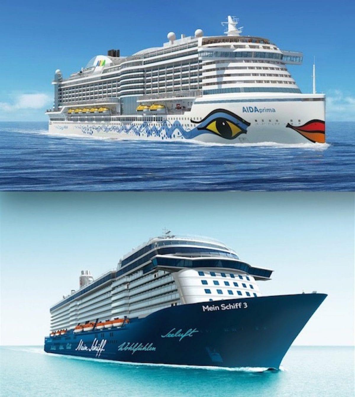 AIDAprima und Mein Schiff 3 / © AIDA Cruises und © TUI Cruises