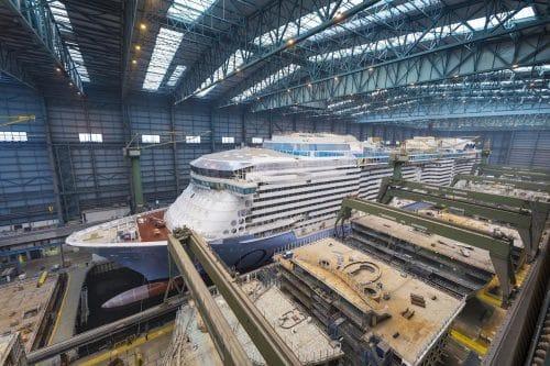 Odyssey of the Seas auf der Meyer Werft im Bau / © Meyer Werft
