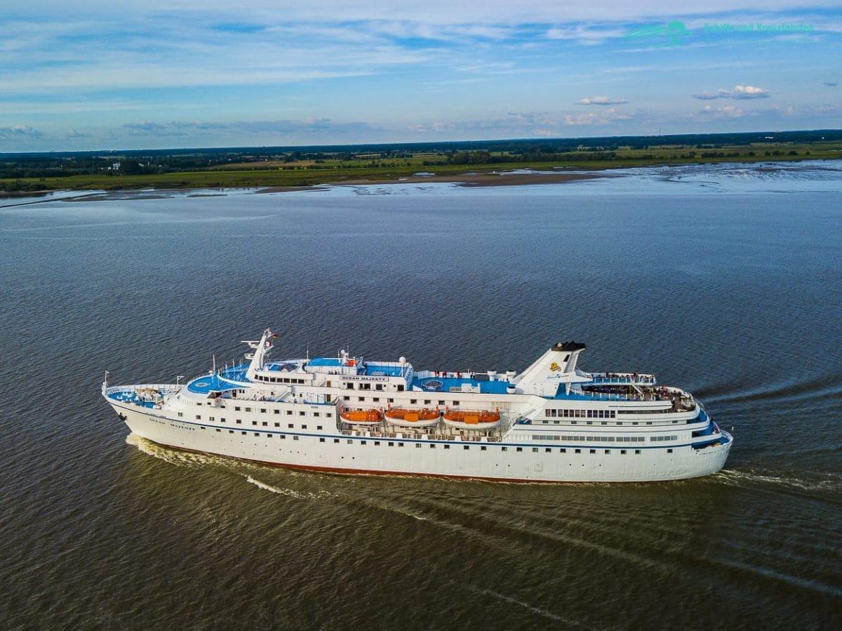 Ocean Majesty: Luftbilder und VIdeo auf der Elbe im August 2017