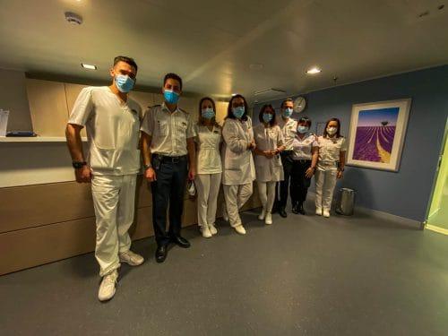 MSC Grandiosa - medizinisches Personal an Bord