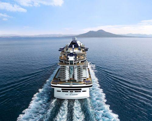 MSC Seashore Außenansicht - der aktuelle Neubau von MSC Cruises / © MSC Cruises