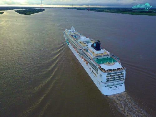 Norwegian Jade - Droneshots auf der Elbe - 30.07.2017