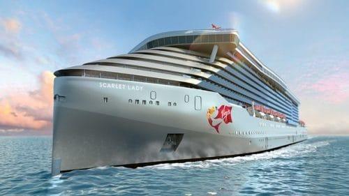 Das erste Schiff der Virgin Voyages: die Scarlet Lady / © Virgin Voyages