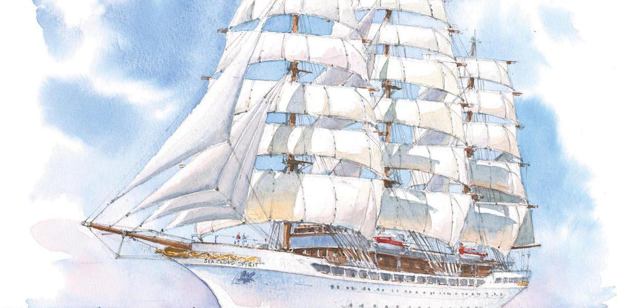 HANDOUT - Zum Themendienst-Bericht «Nun kommt sie doch: «Hussar» von Sea Cloud Cruises segelt 2020 los» vom 20. November 2018: Nachdem sie mehrere Jahre unfertig auf einer spanischen Werft lag, kommt die «Hussar» nun doch - allerdings mit dem neuen Namen «Sea Cloud Spirit». Foto: Sea Cloud Cruises/dpa-tmn - ACHTUNG: Nur zur redaktionellen Verwendung im Zusammenhang mit dem genannten Text und nur bei vollständiger Nennung des vorstehenden Credits - Honorarfrei nur für Bezieher des dpa-Themendienstes +++ dpa-Themendienst +++