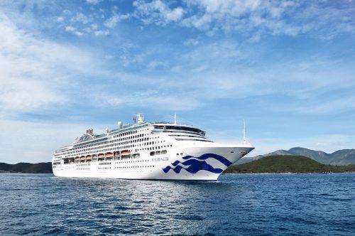 Die Sun Princess nach zwei Wochen Trockendock / ©Princess Cruises